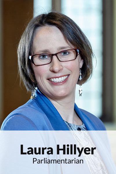 Portrait photo of Laura Hillyer, Parliamentarian