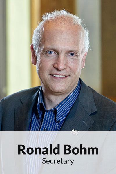 Portrait photo of Ronald Bohm, Secretary