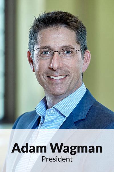 Portrait photo of Adam Wagman, President
